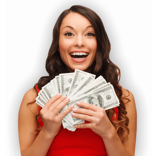 Title Loan Girl With Cash